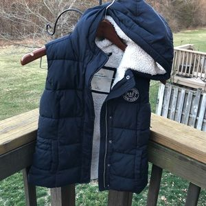 Abercrombie Kids Coat Vest Puffer Down Navy XL